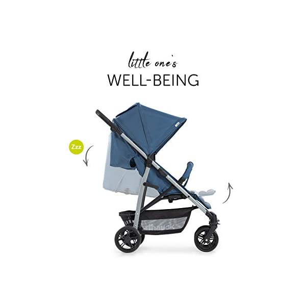 Hauck Rapid 4, 0 Months to 22 kg, Foldable, Compact, with one Hand, with Sleep Position, Height Adjustable Handle, Large Basket - denim/grey, Rapid 4, Up to 25 Kg Hauck Easy folding this pushchair is as easy to fold away as possible - the comfort stroller can be folded with one hand only within seconds, leaving one hand always free for your little ray of sunshine Long use this buggy can be used for a very long time. it is suitable from birth (also compatible with 2in1 carrycot or comfort fix infant car seat) up to a maximum of 22kg Comfortable back friendly push handle adjustable in height, the hood extendable; suspension, swivelling front wheels, soft padding, and large shopping basket 3