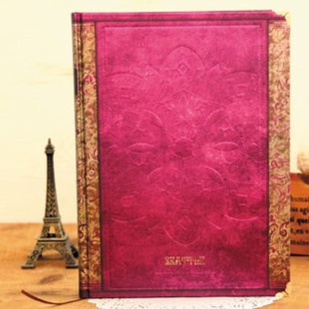 アンティーク ヨーロピアン風 洋書のような 美しい 硬表紙ノート B5サイズ ローズ
