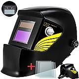 Careta Soldar Automatica, Casco de Soldadura Oscurecimiento Máscara de Soldadores Caretas para Soldar con 3 Lentes de Recambio