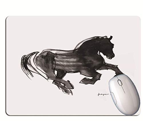 Alfombrilla De Ratón Para Juegos, Caballo Creativo Para Correr, Goma Resistente Al Desgaste Y Duradera, Alfombrilla De Ratón Portátil Para Juegos De Oficina De Aprendizaje