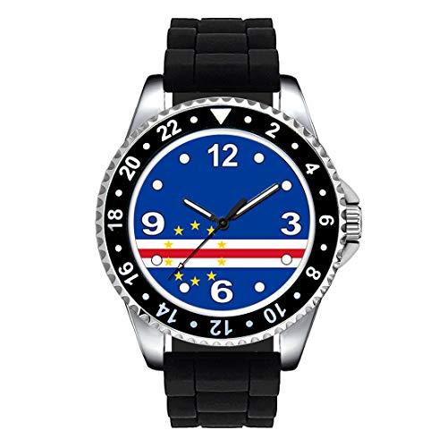 Timest - Drapeau du Cap-Vert - Montre Unisexe - Bracelet Silicone Noir SE0377SB