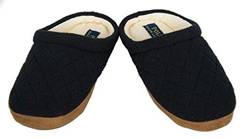 Polo Ralph Lauren Slipper Dame Slip-on Frau Homewear Artikel JACQUE QUILT SCUFF, 992756 Navy, USA 6.5 - UK 4.5 - EUR 37.5 - CM 23