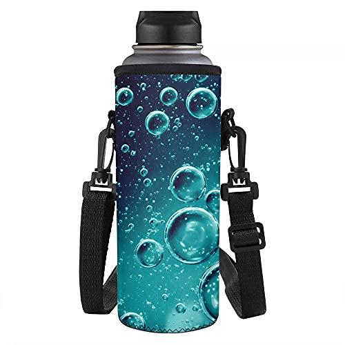 Biyejit Bolsa de agua con estampado de burbujas con correa ajustable para mujeres, hombres, niñas y niños para hikinig Running