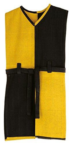 Ritterhemd Wappenrock Schachbrett gelb/schwarz m Gürtelt VAH