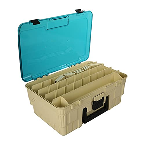 Caja de aparejos de pesca Cajas de herramientas de pesca cajas de tackle adjuntas for almacenamiento y organización de accesorios de pesca Herramientas de juguetes Pinturas de pinturas Suministros de