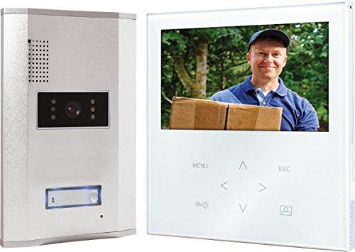 Elro VD71W Video - Türsprechanlage mit flachem Touchscreen-Panel, weiß