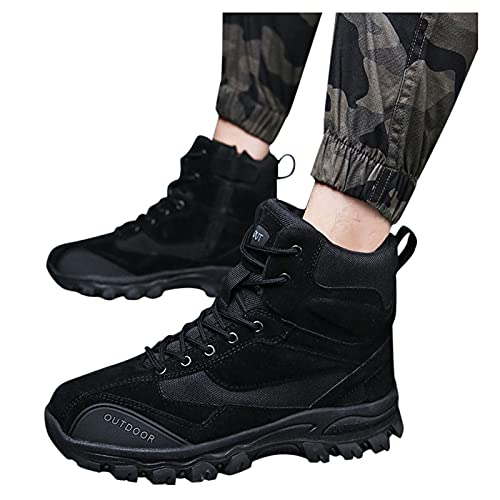 seanxw Men's Combat Boots Walk Shoes Running Shoes Climbing Boot Army Boots with Zipper Waterproof Military Tactical Boots for Autumn Winter