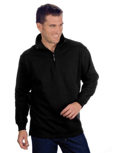 Qualityshirts Troyer Sweatshirt, Gr. 4XL, schwarz