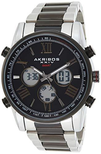Akribos AK1095 - Reloj inteligente multifunción de alta tecnología, visualización analógica y digital, seguimiento de estadísticas...