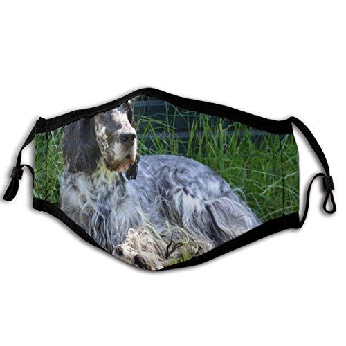 Mundschutz English Setter Dog Leisure Winddichte Gesichtsbedeckung, wiederverwendbares, waschbares Tuch, Gesichtsbedeckung