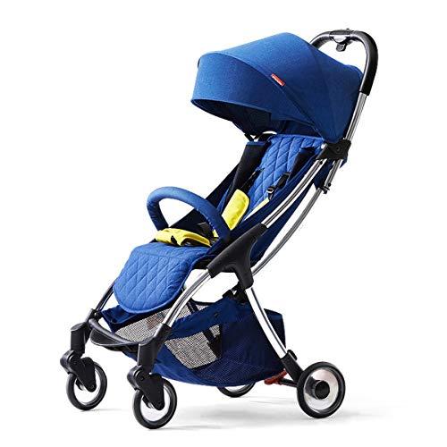 Not a brand Carro de paraguas ultraligero para coche, portátil, para sentarse y plegar, color azul