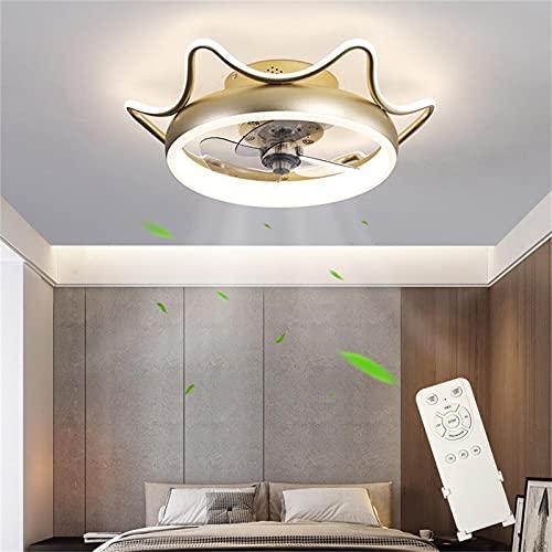Ventilador de Techo con Control Remoto 80W Regulable Lámpara de Techo 3 Temperaturas de Color & 4 Velocidades, Ultra Silencioso Lámpara de Ventilador, Luz de Techo para Dormitorio Restaurante Ø55cm