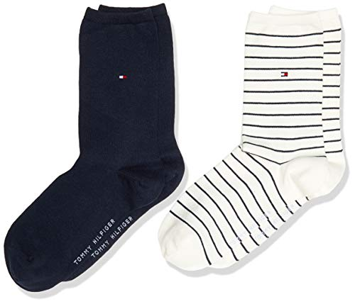 Tommy Hilfiger Damen Socken, off white, 35-38, 2er Pack
