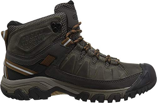 Keen Targhee III Waterproof Mid, Zapatos de High Rise Senderismo para Hombre, Verde (Black Olive/Golden Brown 0), 41 EU