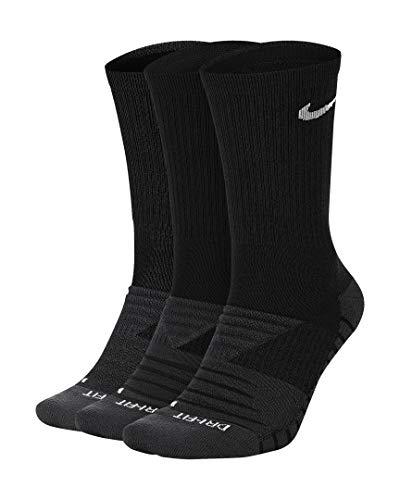 Nike Everyday Max Cushioned Socks Socken 3er Pack (L, black)
