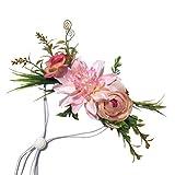 POPETPOP Hunde-Blumen-Haarband für Haustiere, Blumenkrone, Kopfbedeckung, Blütenblätter, natürlicher Kranz für Hunde und Katzen, Hochzeitsdekoration