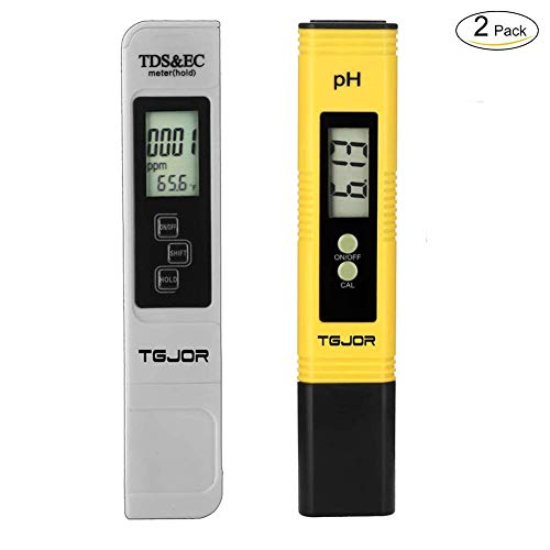 Tester qualità Acqua Rottay TDS PH EC Temperatura 4 in 1 Set/Digitale Misuratore Portabile/Auto-Calibrazione e Compensazione Automatica Temperatura Retroilluminato