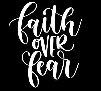 Faith Over Fear MKR Decal Vinyl Sticker  Cars Trucks Vans Walls Laptop White 5.5 x 5.1 in MKR1223