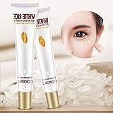 1Pc Useful White Rice Eye Cream Anti Wrinkle Bag Hyaluronic Acid Eye Essence Remove Dark