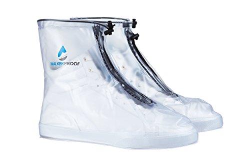 WALKERPROOF Unisex, Kinder, Damen und Herren sportliche,transparente Schuhüberzieher/Überschuhe, Regenschuhe (38)