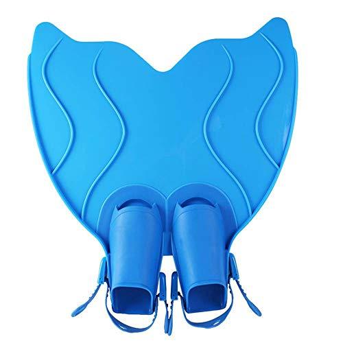 OOLOOYOO Meerjungfrau Monofin Flossen, Schwimmen Spielzeug Trainingsgeräte, Meerjungfrau Tails,Blue