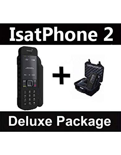 SatPhoneStore Inmarsat IsatPhone 2.1 Satellite Phone Deluxe Package with Pelican Case and Blank Prepaid SIM Card Ready for Easy Online Activation