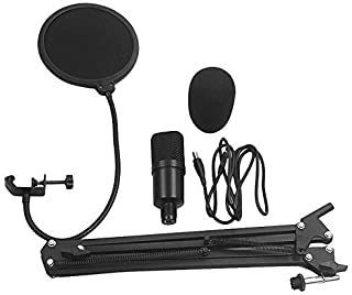 USB Microphone Kit Plug USB Computer Mic Cardioid Podcast Condenser Microphone for PC YouTube Gaming Recording