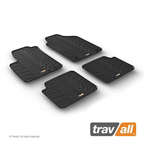 Travall Mats Gummifußmatten Kompatibel Mit FIAT 500 Fließheck (Ab 2007) 500C (Ab 2009) Abarth (Ab 2008) TRM1204 - Allwettermatten Nach Maß Fussmatten Set