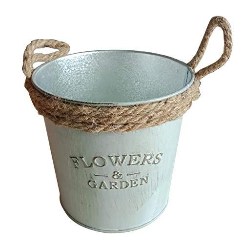 Macetas de flores Da.Wa, vintage, cubo colgante, para el jardín o balcón, de decoración, metal, As Show, 11*12cm