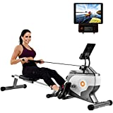 Daverose Folding Rowing Machine Magnetic Rowing Machine with Magnetic Clamping System and LED Monitor