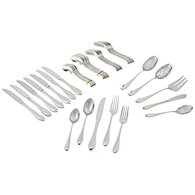 Lenox Gorham Studio Stainless 45 Piece Set-service for 8 & 5 Serving Pieces