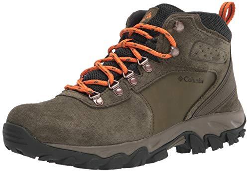 Columbia Men's Newton Ridge Plus II Suede Waterproof Hiking Boot, Nori/Light Orange, 10.5