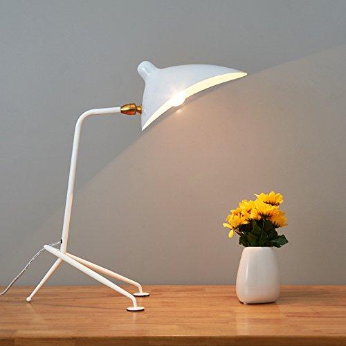 YINGGEXU Lámpara de pie Serge Mouille trípode lámpara de pie compatible con estudio sala de estar dormitorio lámpara de pie color negro loft industrial lámpara de pie (pantalla Color: F)