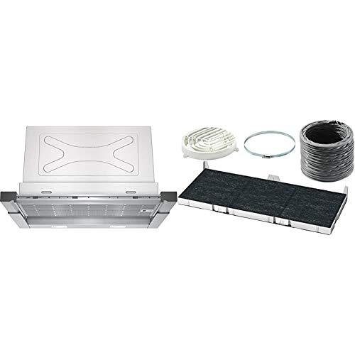 Siemens LI67RA560 iQ500 Flachschirmhaube / 59,8 cm/Lüfterleistung/Edelstahl & LZ45650 Dunstabzugshaubenzubehör/Einbau
