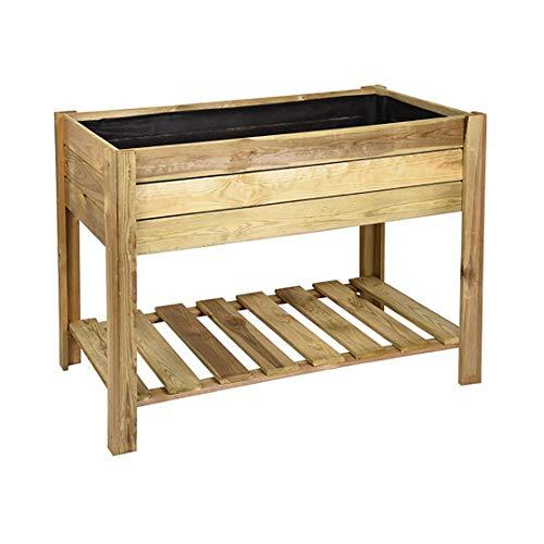 Planwa Pflanztisch aus Holz, rechteckig, 100 x 50 x 75 cm