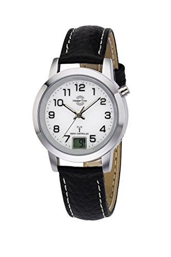 Master Time Funk Quarz Damen Uhr Analog-Digital mit Leder Armband MTLA-10295-12L