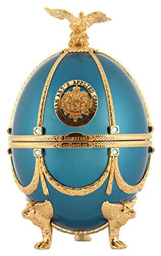 IMPERIAL COLLECTION Huevo Vodka Faberge turquesa metalizada
