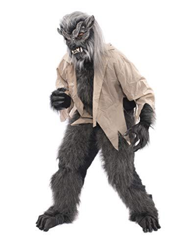 Zagone Studios Herren Werwolf Kostüm Nacht Crawler mit Maske, grau, Einheitsgröße