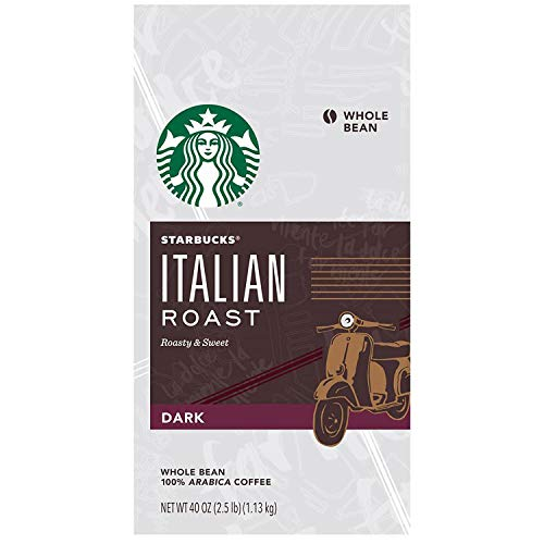 Starbucks Italian Roast Coffee Fair Trade Certified - Whole Bean 40 OZ (2.5 lb)
