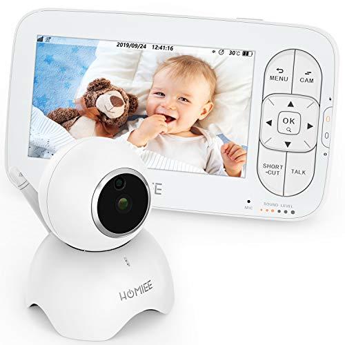 Babykamera HOMIEE Kamera für Babyphone, 360 °Baby Überwachungs Kamera 2,4G Wireless Verbindung bis zu 300m, Unterstützen Sie einen Monitor um vier Kameras gleichzeitig anzuschließen