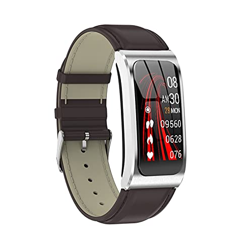 Smart Watch para teléfonos Android iOS IOS Monitor de ritmo cardíaco STONDWATCK PRESIÓN DE SUEÑO MONITOR DE SUEÑO COTOWN ACTUALIZADOR PEDETRÓMETE PEDÓMETRO CALORIE ENTRÁS DE CUERO DE CUERO SMARTHATCH
