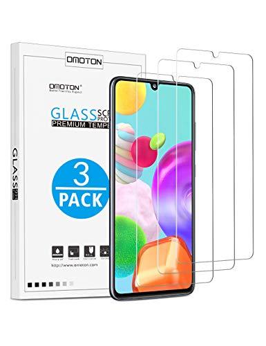 OMOTON [3 Stück] Panzerglas für Samsung Galaxy A41, Samsung Galaxy A41 Schutzfolie [Anti- Kratzer], [Bläschenfrei], [9H Härte], [HD-Klar]