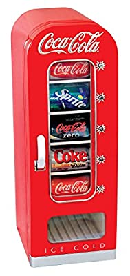 Coca Cola CVF18 Retro Vending Fridge 10 can, Red, White