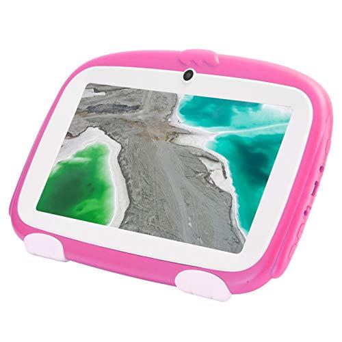 Tableta para niños (rosa), tabletas Android de 1GB + 16GB con pantalla de 3000mAh y HD, tableta para niños pequeños de 7 pulgadas con protección ocular para aprendizaje educativo(UE (100-240 V))