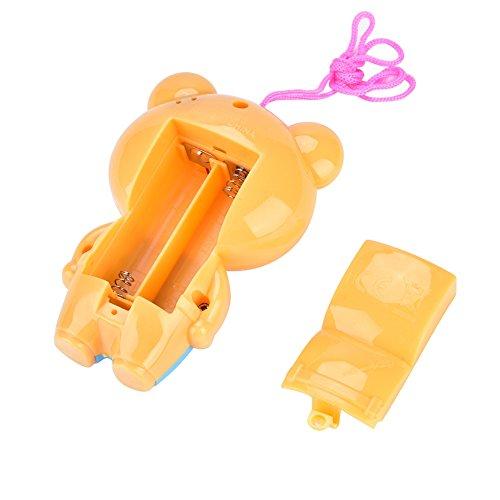 01 Lindo teléfono Celular para niños con Campana Colgante para Cama, teléfono Celular Multifuncional, Juguete de Aprendizaje Animal, teléfono Musical, simulación, teléfono Celular(Little Bear, 12)