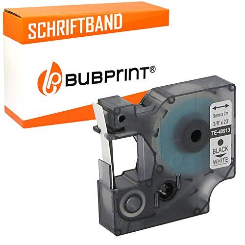 Bubprint Schriftband kompatibel für Dymo S0720680 40913 für Labelmanager 100 Plus 120P 160 210D 280 PnP Labelpoint 150 MobileLabeler Schwarz auf Weiß