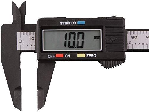 Movilideas Calibre Digital Pie de Rey 150mm,Calibrador electrónico de acero inoxidable,Gran Pantalla LCD,Micrómetro de alta precisión,Medida de Diámetro Interior,Exterior,Profundidad