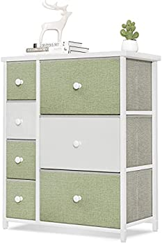 ODK Dresser with 7 Drawers Small Fabric Storage Tower