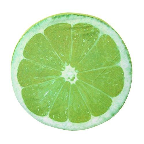 La Cabina Fruit Créative Housse de Coussin Oreiller Imprimé Désign pour Salon Maison (Orange Vert 33CM)