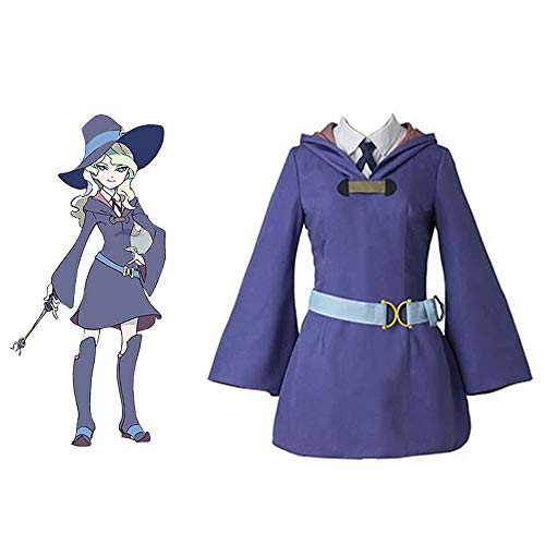 Costumi di Diana Cavendish per Little Witch Academia Halloween Cosplay Fancy Dress for Women Girl
